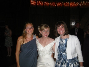 August 4: My beautiful coworker's wedding.  Here is Nora, bride Christina, and myself