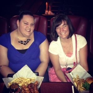 The next weekend I went back to Olathe, KS to visit Nicki. We went to a Bruno Mars concert on Friday night and went to a Fork N Dine movie theater on Saturday.  A full meal with your movie!