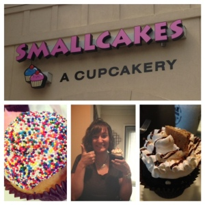 Of course we found a cupcake place. Smallcakes was a winner on Cupcake Wars!