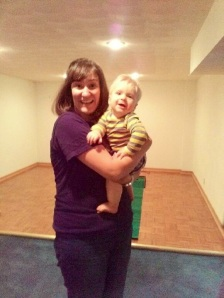 Had to share this picture: me and my new boo Warner. (Really he's my old roomie Stacy's son, not just a random baby).