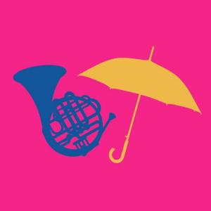 From a blue French Horn to a yellow umbrella.