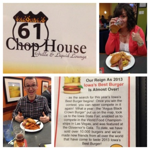 Ahhh another installment on the blog - Nick and I's Burger and Beer Tour.  61 Chophouse was da bomb dot com!